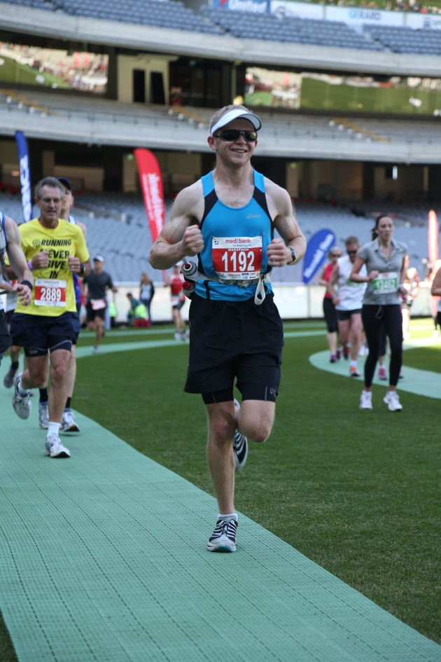 Pete, Melbourne Marathon 2012