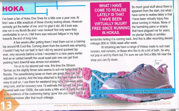 Hoka InTraining Review March/April 2013