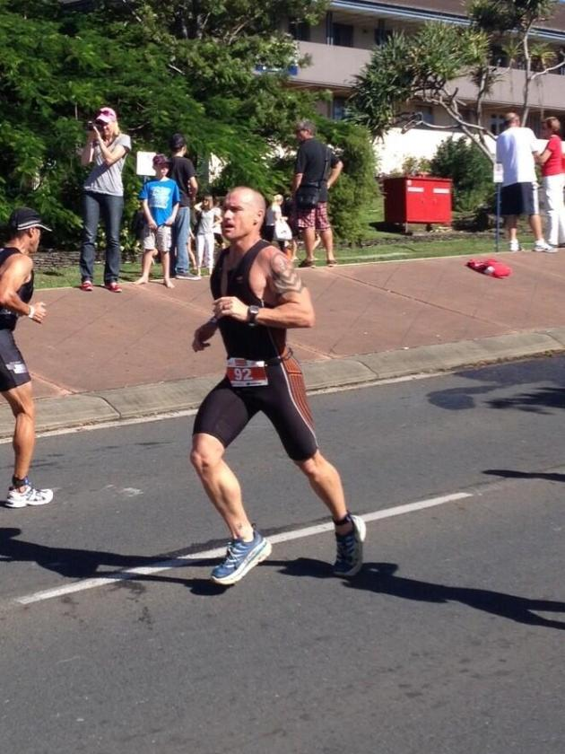 Smashing it out in his Tarmacs at the Gold Coast Tri over the weekend, Guy Andrews is a machine.