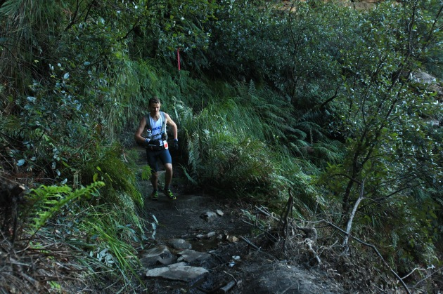 Team Hoka's latest addition, Ben Duffus ripping it up in the valleys of the Blue Mountains, pic. courtesy of the Duffus family