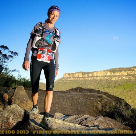 Kristen Brace putting her training (and her Hokas!) to good use on the Landslide at The North Face 100 earlier this year.