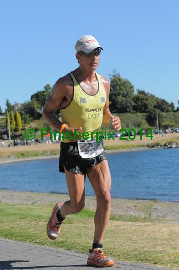 Ironman World Chamion from the late '80s, Scott Molina, pumping it out at Ironman New Zealand 2014. He sometimes credits the shoe for his ability to keep running the long stuff. We just think he's a hardcore legend.